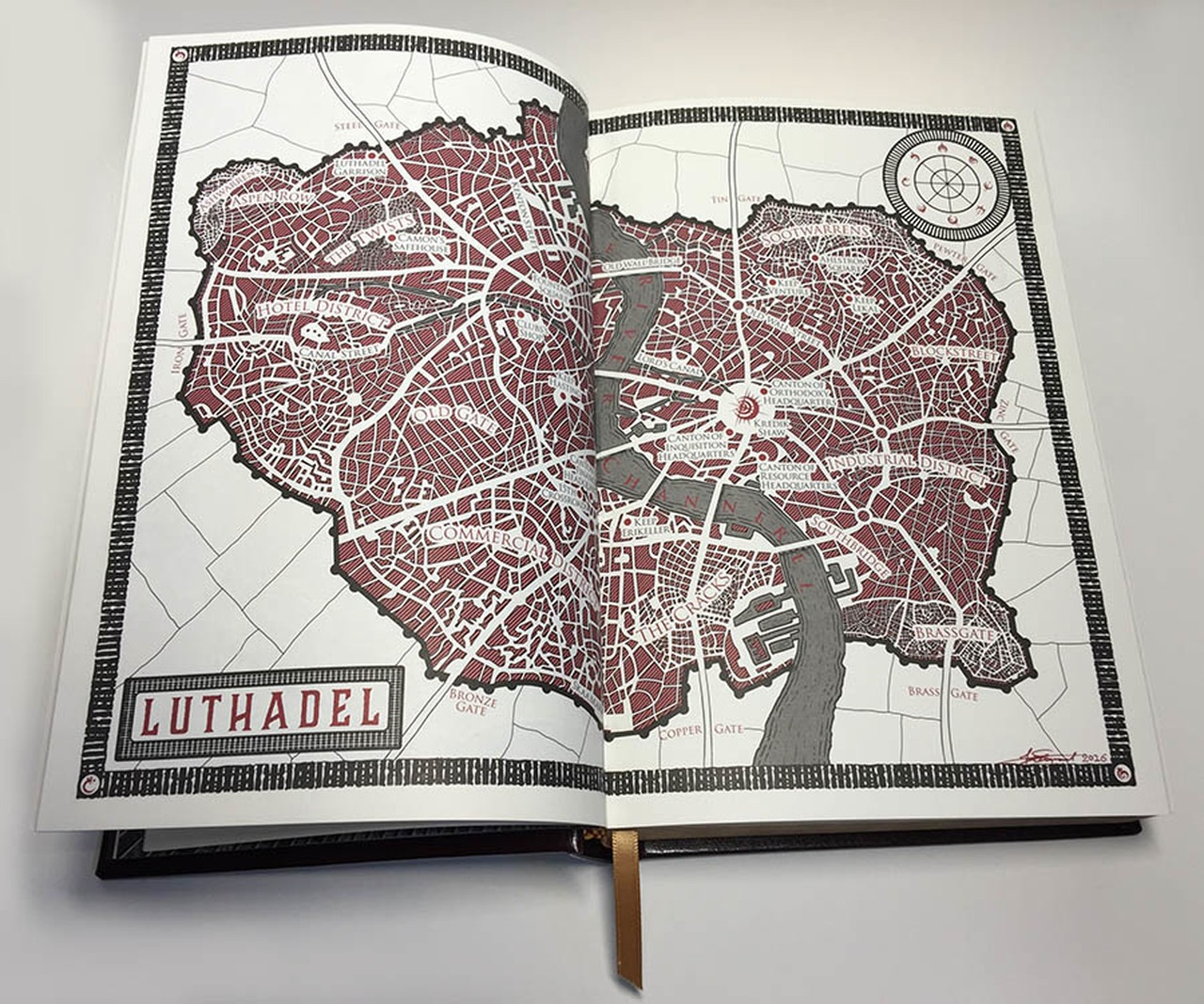 Dragonsteel - X Anniversary - Mistborn - Mapa Luthadel