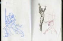 Bocetos de Words of Radiance, por Michael Whelan