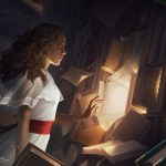 The Reader Small by Charlie Bowater