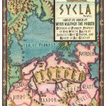 Map of Scyla by Isaac Stewart, for the 10th Anniversary edition.